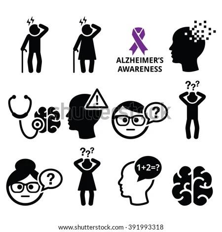 Seniors Health Alzheimers Disease Dementia Memory Stock