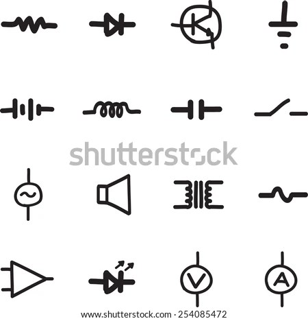 Common Schematic Symbols Electronics Capacitor Symbols