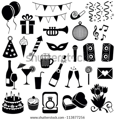 Vector Images, Illustrations and Cliparts: Party and