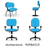 office chair vector geeken revolving black graphics art freevector com large set of very detailed illustrations