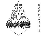 Sacred Heart of Jesus Clip Art, Vector Sacred Heart of