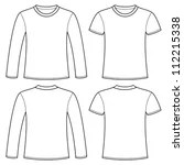 Long Sleeve T Shirt Template Vector Free Image collections