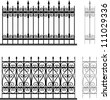 Wrought Iron Modular Railings And Fences Stock Vector