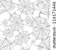 Halloween Spider Web Background Stock Vector Illustration