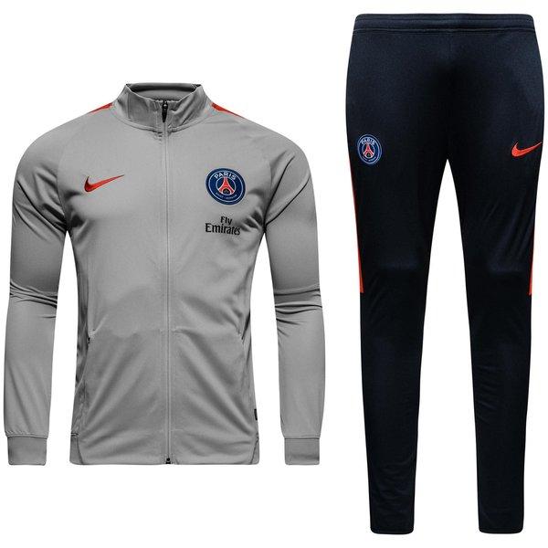 paris saint germain trainingsanzug dry squad knit grau rot