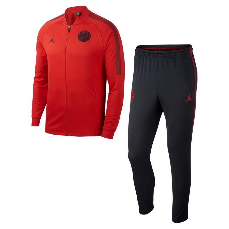 paris saint germain trainingsanzug dry squad knit chl jordan x psg rot schwarz