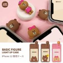 iphone 12 pro カバー 光るケース LINE FRIENDS フィギュア付きLIGHT UP CASE 高級 おしゃれ ……