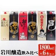 【ふるさと納税】岩川醸造飲み比べ1800mlパック6本セット