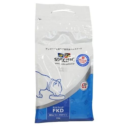 スペシフィック 食事療法食 猫用 FKD [低Na-リン-プロテイン] 1kg SPECIFIC 【猫用/キャットフード/ドライフード/子猫/成猫/高齢猫】
