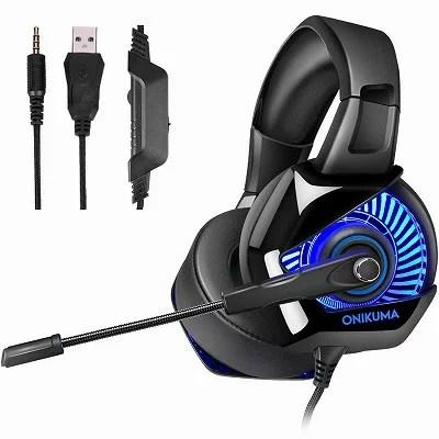 ゲーミングヘッドセット ゲーミングヘッドホン PS4ヘッドセット ヘッドフォン PCヘッドセット Eスポッツヘッドホン ゲーム用 switch PS4 Xbox One ONIKUMA ノートパソコン ノイズキャンセル FPSゲーム最適
