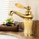 洗面用 アンティーク 混合水栓 混合栓 蛇口 シングルレバー ランプ型 ヨーロッパ風 手洗いボウル用 洗面台 取り付けホース付き (ベージュ) おしゃれな蛇口 かっこいい オシャレな蛇口 モデルルームに使用 蛇口