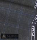 オーダースーツ [ブランド] T.G. di Fabio [色] チャコールグレー(濃いグレー) [柄] 青×白のチェック柄 [品質] ウール100% woven in ..