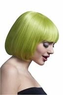 ショートボブ かつら ウィッグ パステルグリーン 黄緑 女性 レディース コスプレ 仮装