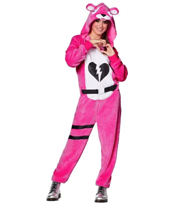 ピンクのクマちゃん コスチューム フォートナイト Fortnite ゲーム 大人 ハロウィン コスプレ イベント 衣装