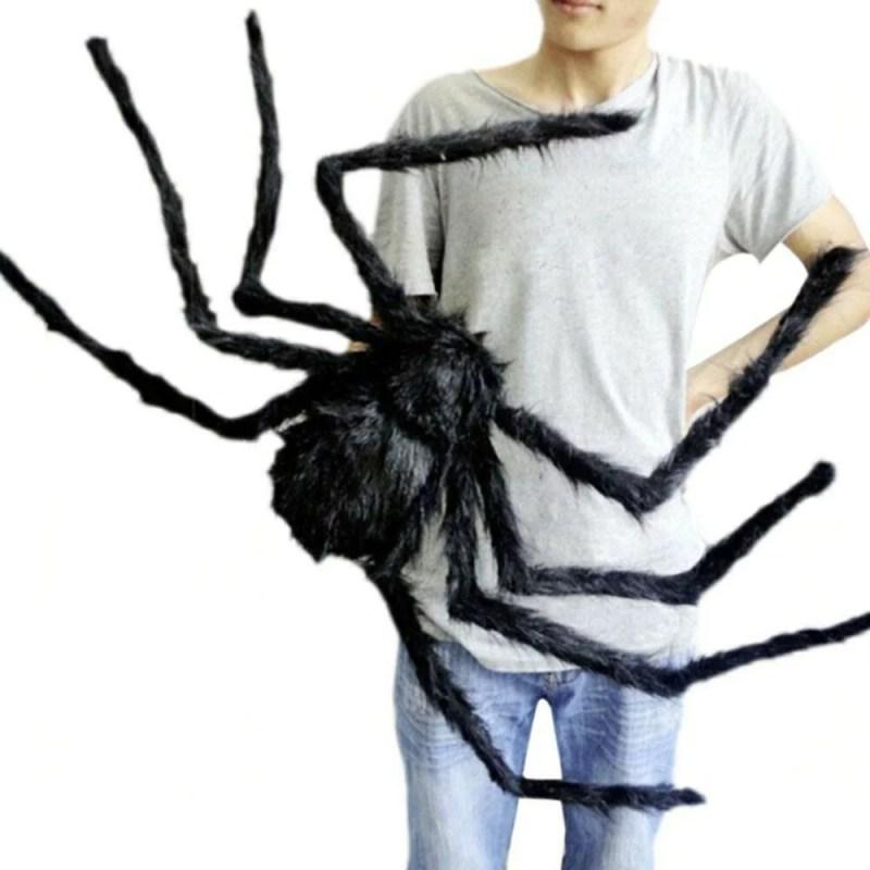ぬいぐるみ 玩具 蜘蛛 クモ 81cm スパイダー 特大 おもしろ ドッキリ 飾