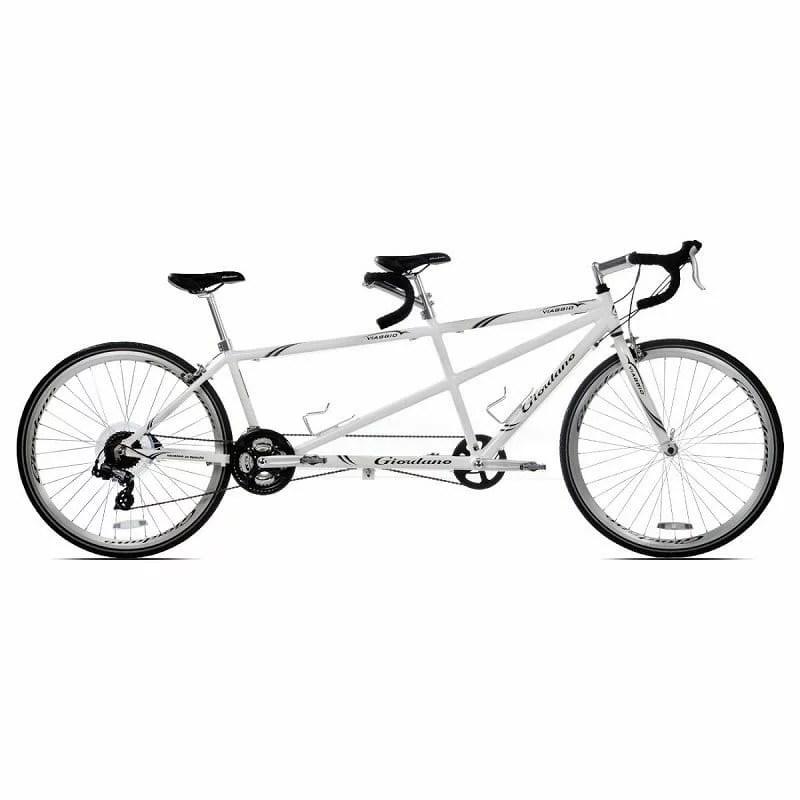 ジョルダーノ ビアッジョ タンデム パンナム 二人乗り自転車 ホワイト 白Giordano Viaggio