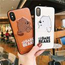 iPhone12 ケース くま パンダ しろくま 保護カバー 刺繍 ポケット Suica カード 電子マネー iP……