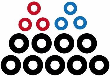 PS5コントローラ用 FPSアシストリング(レッド&ブルー)[アンサー]《発売済・在庫品》