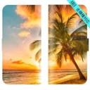 スマホケース 全機種対応 手帳型 iPhone 12 SE 2 11 pro Max XS XR ハワイアン Xperia Galaxy ……