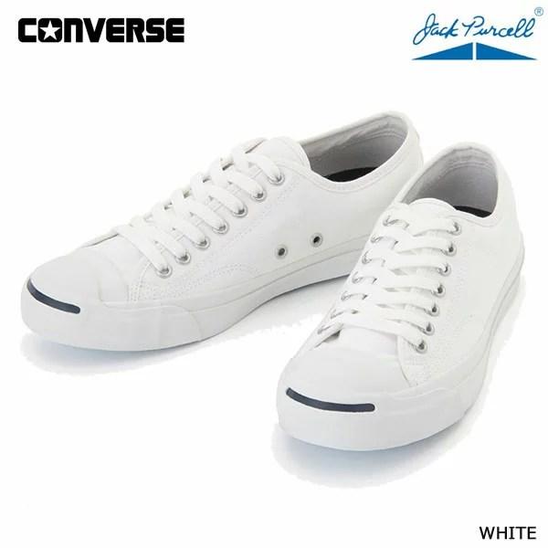 コンバース 22.0cm-25cm ジャックパーセル 白ホワイト Converse Jack Purcell white