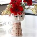 【Bjorn Wiinblad Eva FlowerVase Christmas gold】花瓶 フラワーポット フラワーベース ビヨン ヴィンブラッド エヴァ ギフト 限定■ ..