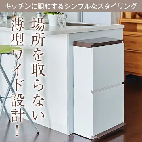 ゴミ箱 ごみ箱 ダストボックス分別 ダストボックスペダル 2段 ワイド 40L