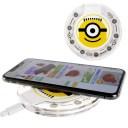 送料無料 iPhone8 X ワイヤレス充電器 ミニオンズ フェイス キャラクターグッズ ミニオンズ ワイヤレスチャージャー Gu008