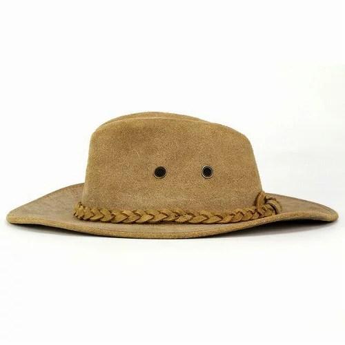 ELEHELM HAT STORE: 牛仔帽帽子皮革帽子一外殻十加侖帽子鹿皮風格西部舌頭(淺駝色) | 日本樂天市場