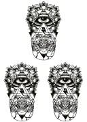 [THE FANTASY (ファンタジー)] タトゥーシール トライバル hb051 [A5サイズ・3枚入り]