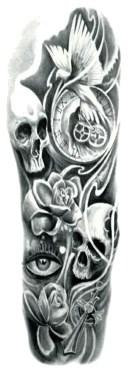 (ファンタジー) TheFantasy タトゥーシール タトゥーシール 肩から手首 髑髏 スカル tqb021【特長】