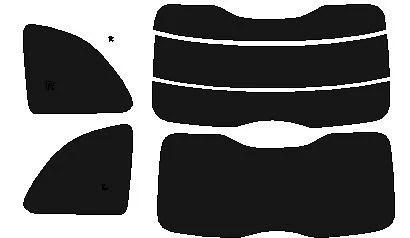 フィアット500(チンクチェント)31212H20.3〜高品質、高精度、高透明カット済みカーフィルム(スモーク)