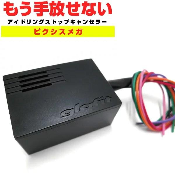 ピクシスメガ アイドリングストップキャンセラー LA700A キーワード アイドリングストップ 無効化 オフ 不要 解除 エンジンストップ邪魔 アイスト 低燃費 日本製 glafit グラフィット