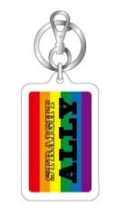 レインボー キーホルダー ストレートアライ STRAIGHT ALLY RB006 LGBT 応援 グッズ