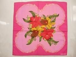 横浜最新 カトレアの花束☆ミニスカーフ ピンク 同梱4枚まで