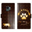 Galaxy S9 SC-02K SCV38 SC02K 手帳型 猫 肉球 猫柄 I LOVE CATS 名入れ 名前入り ケース カバ……
