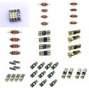 AL LED 車用 内装 ライト 適用: オペル/OPEL アンタラ L07 アリー ボックス TB TF コンビ A97 バス ランプ バルブ エラーフリー 28mm ..