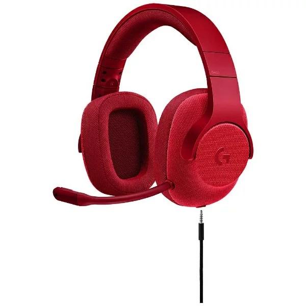 ロジクール G433RD ゲーミングヘッドセット レッド [φ3.5mmミニプラグ /両耳 /ヘッドバンドタイプ]