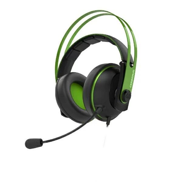 ASUS エイスース Cerberus V2 有線ゲーミングヘッドセット Cerberus グリーン [φ3.5mmミニプラグ /両耳 /ヘッドバンドタイプ][CERBERUSV2GREEN]