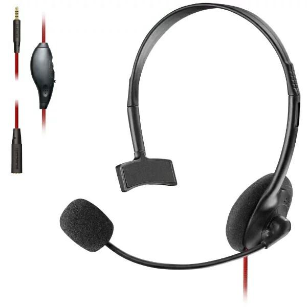 エレコム ELECOM 片耳オーバーヘッド 1.5m延長ケーブル付 PS4 Switch対応 ブラック HS-GM10BK【PS4/Switch】