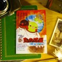 【EVER GREEN】二つ折りカード・鳥の惑星/オカメ/194A0204◆クロネコDM便可能
