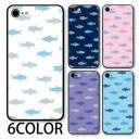 スマホケース ラウンド ガラス サメ 鮫 海の生き物 海 魚 iphone13 pro MAX iphone12 mini iph……