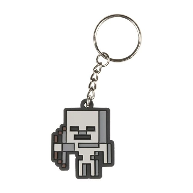 Minecraft スケルトンラバーキーホルダー