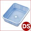 リス キッチンバスケット DS ブルー 36.6×27.2cm/プラスチック製水切りカゴ