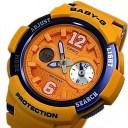 CASIO/Baby-G【カシオ/ベビーG】ビッグナンバーインデックス レディース腕時計 オレンジ(国内正規品)BGA-210-4BJF
