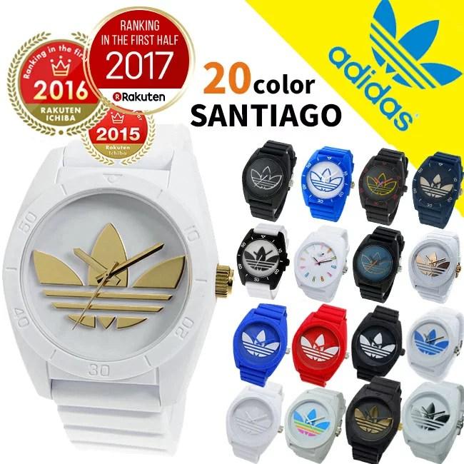 【3年保証】アディダス サンティアゴ ホワイト ブラック 人気 白 黒 timing adidas