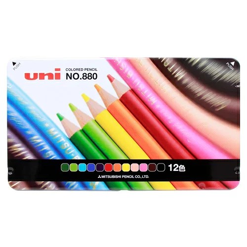三菱鉛筆 色鉛筆 12色 K88012CPN 972489