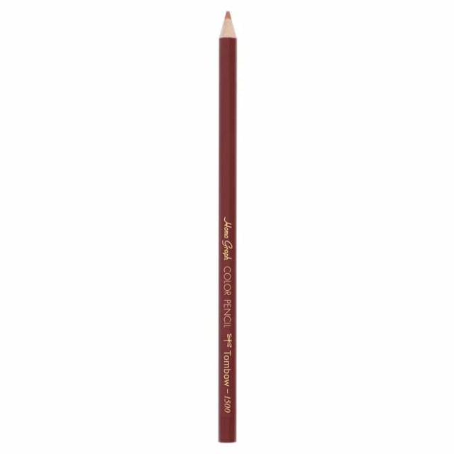 トンボ鉛筆 色鉛筆 1500 (色:赤茶色) 1500-30 [1500]【色鉛筆】