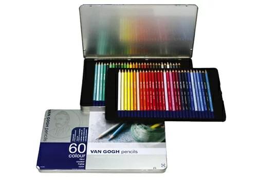 【メ可】サクラクレパス ヴァンゴッホ 色鉛筆 60色セット(メタルケース入り) 157380