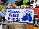 U.S.パブリックサインステッカー(手を洗って下さい) ■