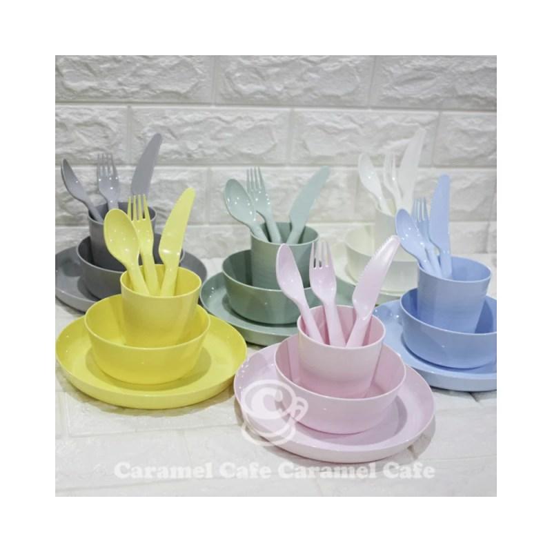 IKEAイケア カラフル食器36ピースパーティーセット KALAS パステルカラー カラース